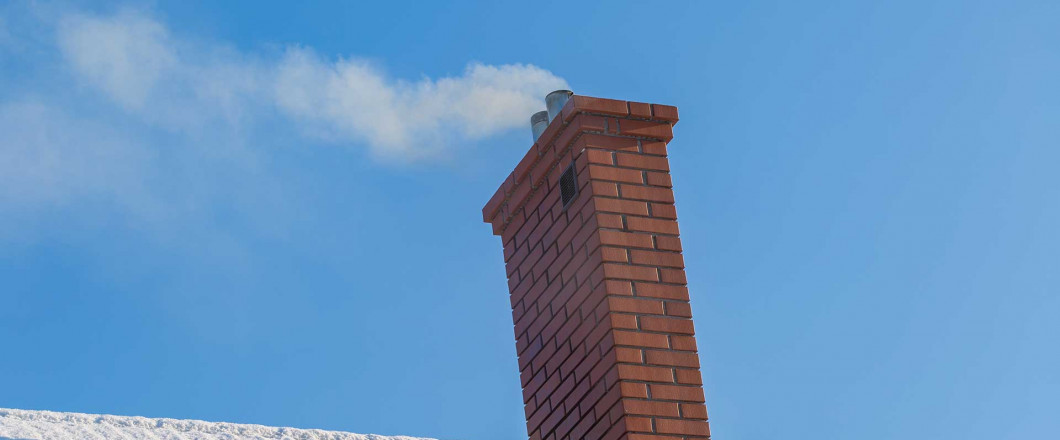 A chimney after a chimney inspection in Waltham, MA